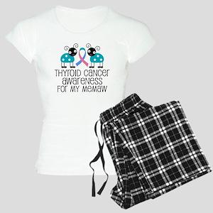 Thyroid Cancer Support Memaw Women's Light Pajamas
