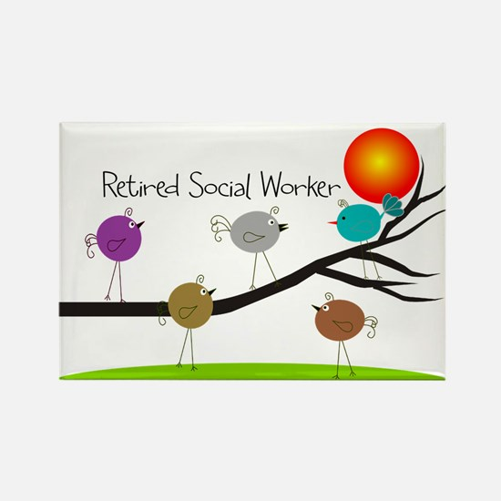 Retired Social worker A Rectangle Magnet