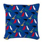 Windsurfing Woven Throw Pillow