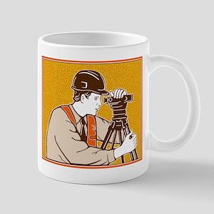 Surveyor Geodetic Civil Engineer Retro Mug