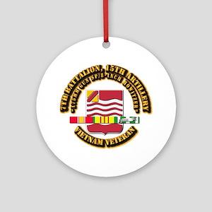 7th Battalion, 15th Artillery Ornament (Round)