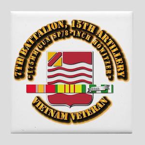 7th Battalion, 15th Artillery Tile Coaster