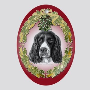 English Springer Christmas Oval Ornament