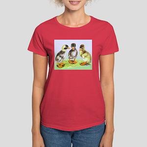 Runner Duck Ducklings Women's Dark T-Shirt