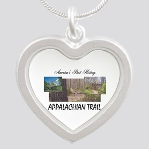 Appalachian Trail Americabes Silver Heart Necklace
