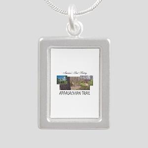 Appalachian Trail Americ Silver Portrait Necklace