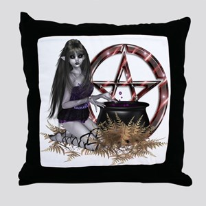 Wiccan Pentacle Throw Pillow
