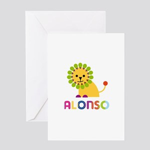 Alonso Loves Lions Greeting Card
