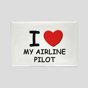I love airline pilots Rectangle Magnet