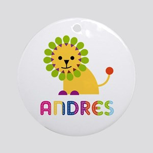 Andres Loves Lions Ornament (Round)