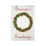 Christmas Wreath Rectangle Magnet