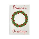 Christmas Wreath Rectangle Magnet (10 pack)