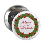 Christmas Wreath Button