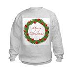Christmas Wreath Kids Sweatshirt