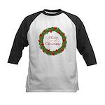 Christmas Wreath Kids Baseball Jersey