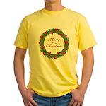 Christmas Wreath Yellow T-Shirt