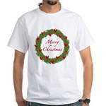 Christmas Wreath White T-Shirt