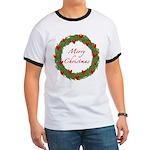 Christmas Wreath Ringer T