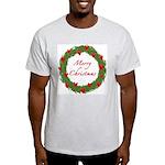 Christmas Wreath Ash Grey T-Shirt