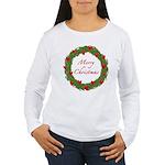Christmas Wreath Women's Long Sleeve T-Shirt