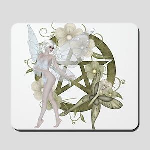 Beautiful fairy with pentacle Mousepad