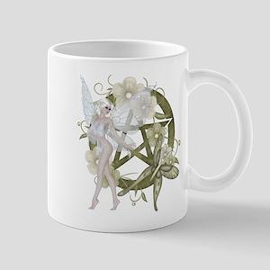 Beautiful fairy with pentacle Mug