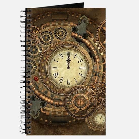 Steampunk, clockwork with gears Journal
