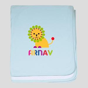 Arnav Loves Lions baby blanket
