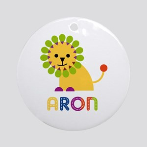 Aron Loves Lions Ornament (Round)