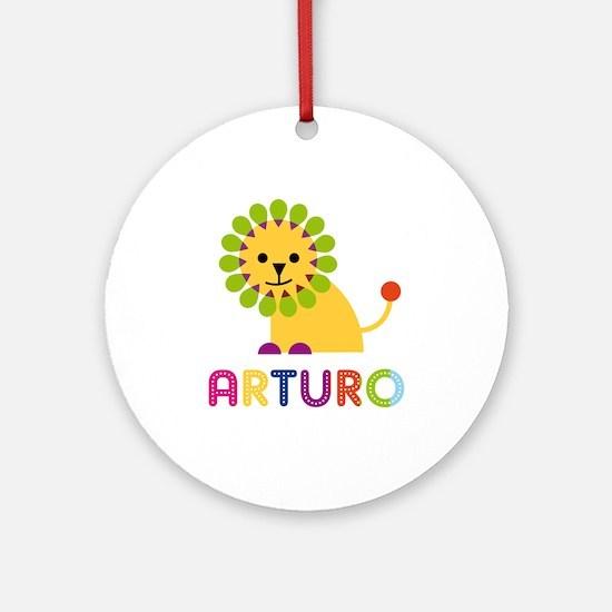 Arturo Loves Lions Ornament (Round)