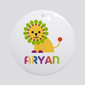 Aryan Loves Lions Ornament (Round)
