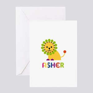 Asher Loves Lions Greeting Card