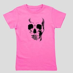 Skull Face Girl's Tee
