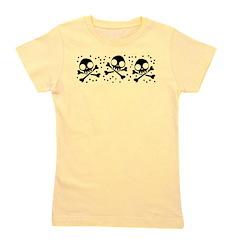 Cute Skulls And Crossbones Girl's Tee