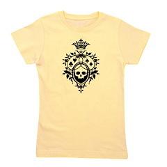 Gothic Skull Crest Girl's Tee
