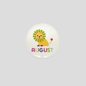 August Loves Lions Mini Button
