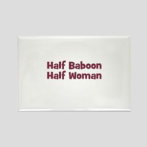 Half BABOON Half Woman Rectangle Magnet