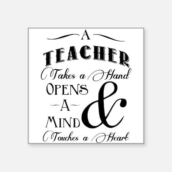 Teachers open minds Sticker