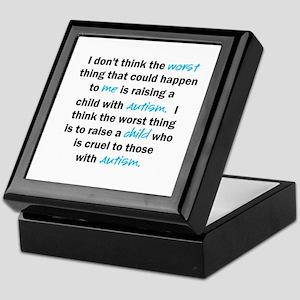 I don't think the worst (Autism) Keepsake Box