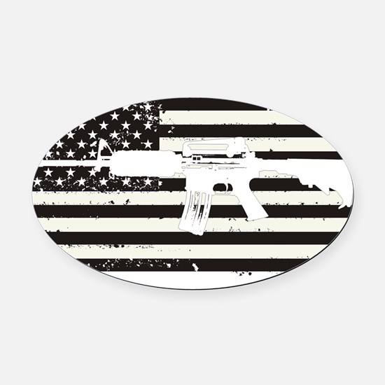 AMERICA Oval Car Magnet