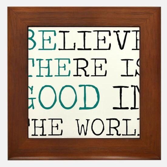 Be the Good Framed Tile