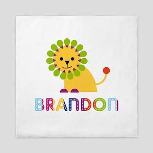 Brandon Loves Lions Queen Duvet