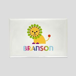 Branson Loves Lions Rectangle Magnet