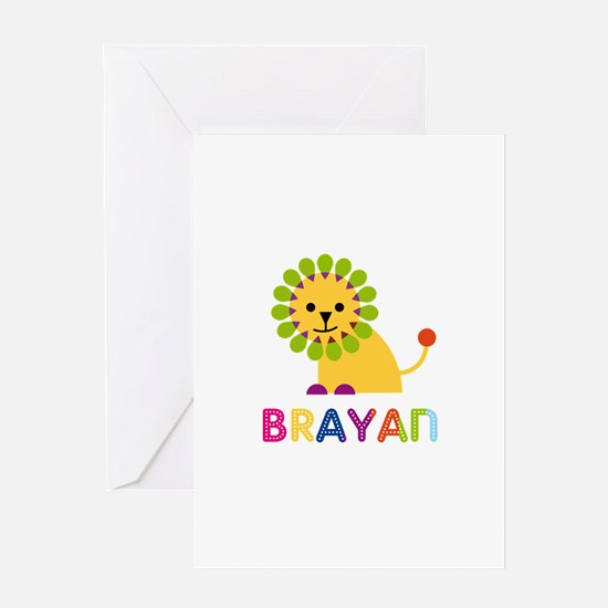 Brayan Loves Lions Greeting Card