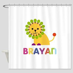 Brayan Loves Lions Shower Curtain