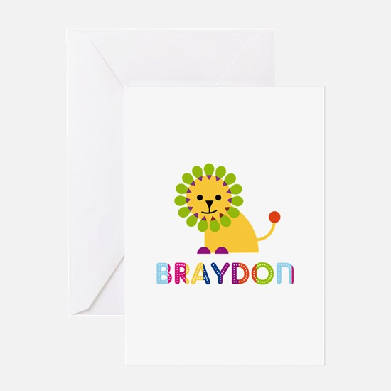 Braydon Loves Lions Greeting Card