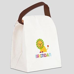 Brendan Loves Lions Canvas Lunch Bag