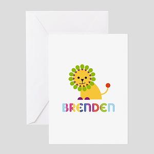 Brenden Loves Lions Greeting Card