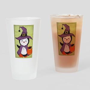Happy Halloween Penguin cutie Drinking Glass