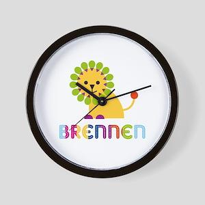 Brennen Loves Lions Wall Clock